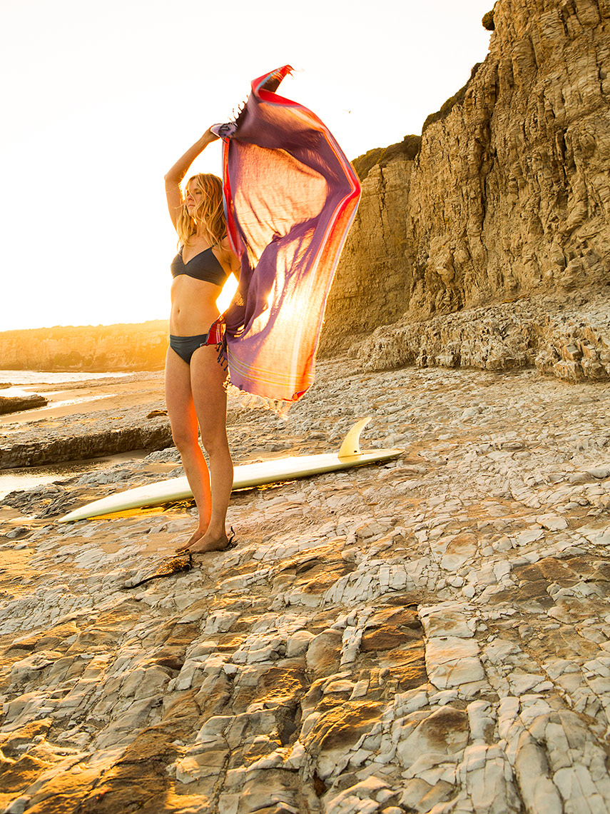 California surfer girl
