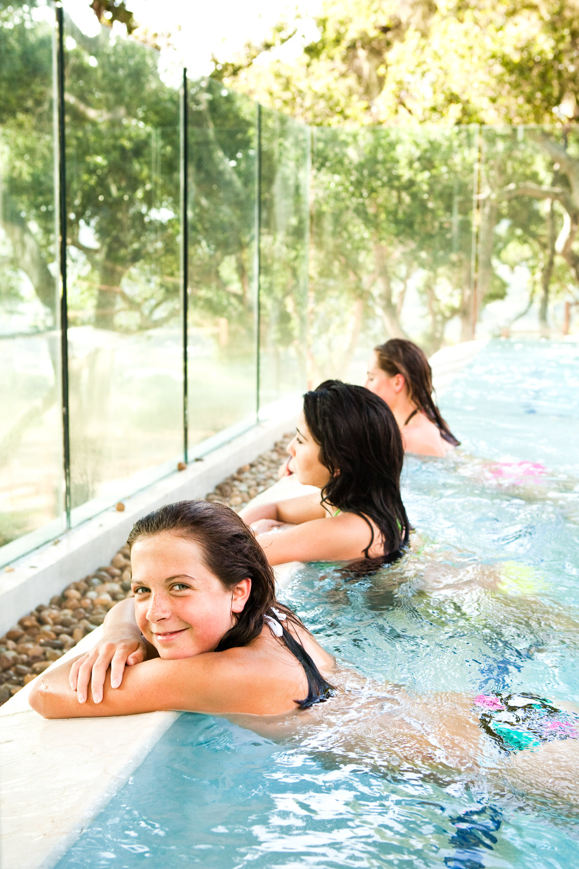 Girls in pool at Carmel Valley Ranch.