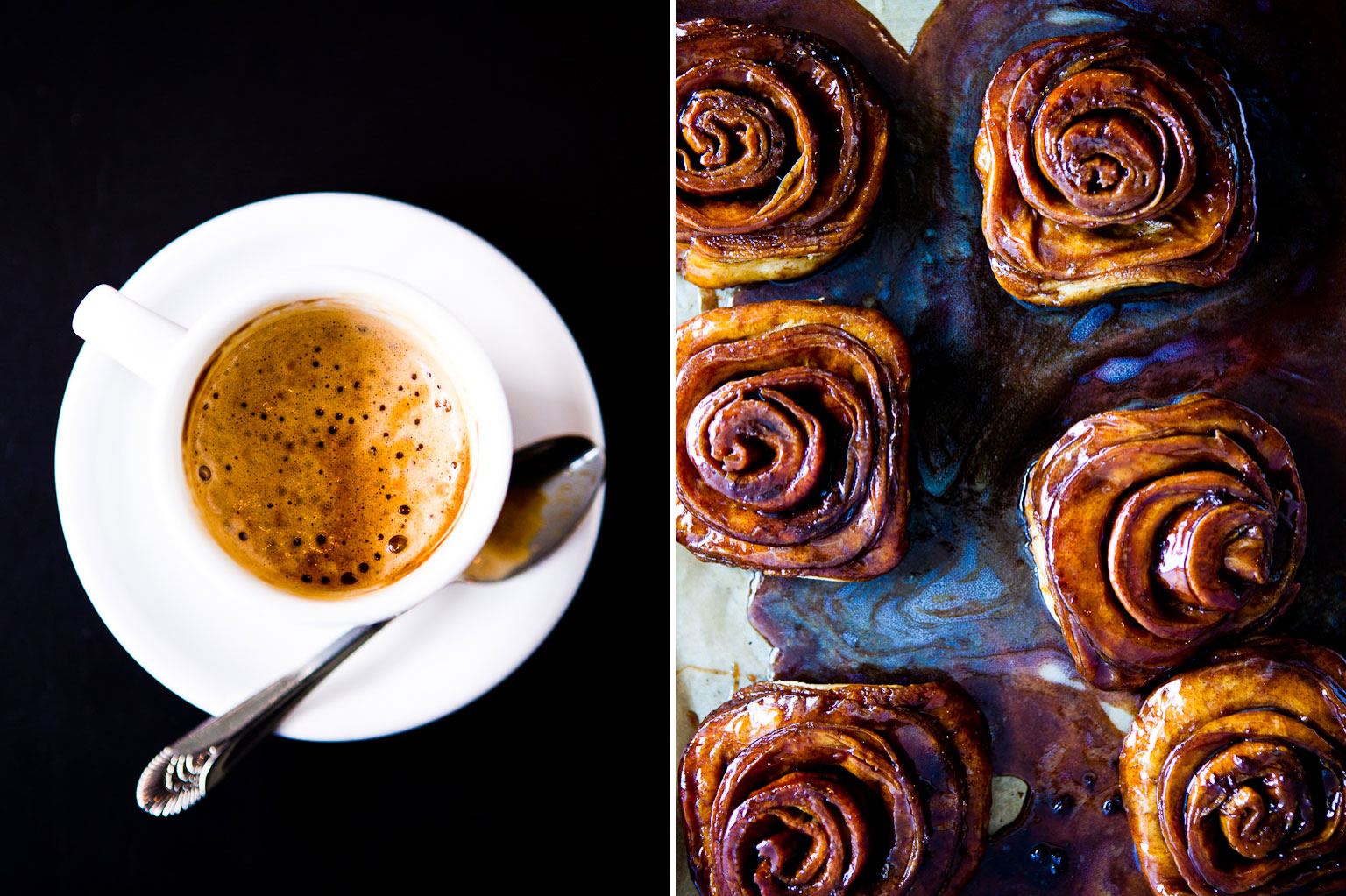 Coffee and Sticky Buns.