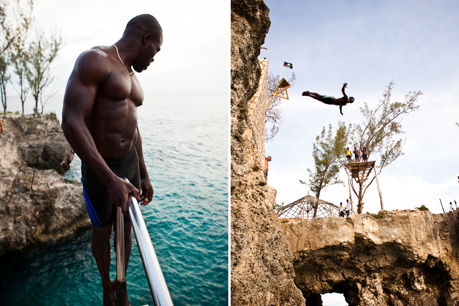 Cliff Diver in Negril, Jamaica
